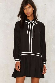 First Border of Business Collared Dress