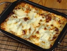 Vegetarisk lasagne med aubergine och mozzarella