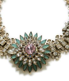 CRYSTAL FLOWER NECKLACE - Accessories - Accessories - Woman | ZARA Belgium