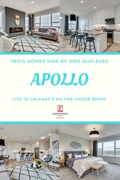 With the Apollo, stunning side-by-side homes by Trico Homes in Crestmont West, everyone can become a part of Calgary's heart and soul in the desirable southwest.