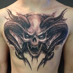 40 Interesting Skull Tattoo Designs For You - skull art - Tatoo Ideen Jj Tattoos, Spine Tattoos, Badass Tattoos, Skull Tattoos, Chest Tattoo, Rose Tattoos, Body Art Tattoos, Sleeve Tattoos, Tattoos For Guys