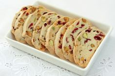 Cranberry and Pistachio Biscotti - this needs butter added to the recipe - 10 tblspoons, creamed with sugar and eggs