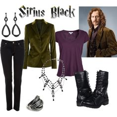 Character: sirius black fandom: harry potter film: order of the phoenix buy Mode Harry Potter, Harry Potter Cosplay, Harry Potter Style, Harry Potter Outfits, Disney Inspired Fashion, Character Inspired Outfits, Disney Fashion, Nerd Fashion, Fandom Fashion