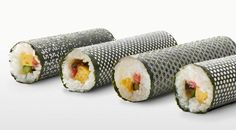 """""""Tokyo-based advertising agency I BBDO has designed a very special set of symbolic patterned nori, needed to roll a sushi, for Umino Seaweed. The aim is to help the seaweed company recover from the sales aftereffects of the 2011 Japanese tsunami."""""""