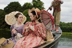 Claire Foy as Amy and Emma Pierson as Fanny Dorrit in Little Dorrit (TV Mini-Series, BBC Bbc Drama, Drama Film, Period Movies, Period Dramas, Theatre Costumes, Movie Costumes, Little Dorrit, Masterpiece Theater, Period Costumes