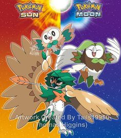 Rowlet's Evolutionary Family by Tails19950.deviantart.com on @DeviantArt