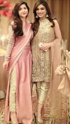 Pant Saree Style – 25 Ideas On How to Wear Pants Style Saree Pakistani Couture, Pakistani Outfits, Indian Outfits, Latest Pakistani Fashion, Salwar Kameez, Kurti, Churidar, Anarkali, Indian Attire