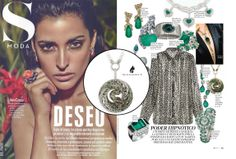Magerit in spanish weekly magazine S Moda. Check out this very special item! Necklace-snake in white gold 18kt and black rhodium, emeralds, red sapphires and white, green and black diamonds. Stunning! #SModa #Magazine #MageritJoyas #Magerit #jewels #fashion #necklace #gold #emeralds #diamonds #luxury
