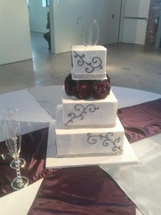 """Square Cakes are very popular in the Millineum! by  """"Custom Cakes"""""""