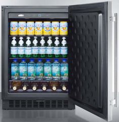 Summit SPR627OS 24 Inch Outdoor Undercounter Refrigerator with Adjustable  Glass Shelves, Digital Thermostat, Door