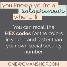 You know you're a solopreneur when... Pin this if you get it!