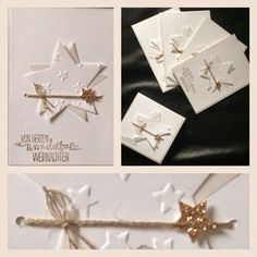 Paper-and-More : Karten Stampin Up Christmas, Christmas Crafts, Stampin Up Weihnachten, Paper Art, Paper Crafts, Star Cards, Christmas Is Coming, Stamping Up, Diy Cards