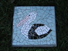 Pelican mosaic stepping stone