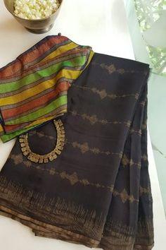 Trendy Sarees, Stylish Sarees, Fancy Sarees, Gadwal Sarees Silk, Silk Saree Kanchipuram, Online Shopping Sarees, Saree Shopping, Fancy Blouse Designs, Sari Blouse Designs