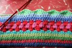 Tutorial - granny stripe pattern. Will use this for the pretty multi-stripe crochet children skirts on my board..