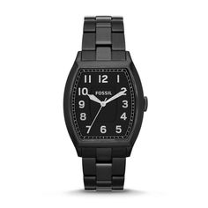 Fossil Narrator Three-Hand Stainless Steel Watch - Black FS4883 | FOSSIL®