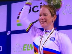 """A very emotional @kirsten_wild after winning the W's Scratch race: """"I'm not used to that"""""""