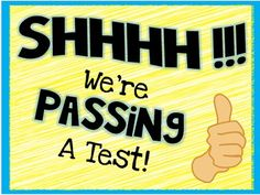 A great way to encourage students during state mandated tests is by hanging up motivational posters.This poster is a freebie designed to prove to students that they are AWESOME! Hang it up on your door during testing.Sign Reads:Shh! We're Passing a Test!