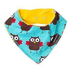 Organic Dribble Bib Owl by Maxomorra