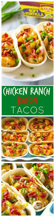 Chicken Ranch Bacon Taco Boats - everyone in the family will love these tacos for dinner! http://the-girl-who-ate-everything.com