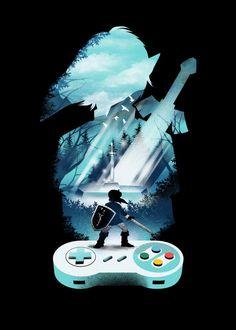 The Legend Of Zelda, Legend Of Zelda Poster, Legend Of Zelda Breath, Video Game Posters, Video Game Art, Image Zelda, Zelda Tattoo, Cartoon Games, Palembang