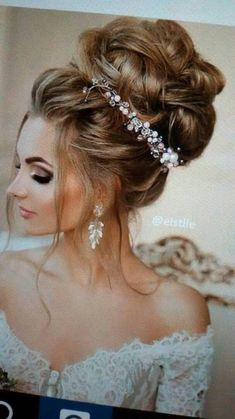 Bridal Bun, Bridal Makeup, Wedding Makeup, Bridal Hair, Wedding Hair Up, Wedding Updo, Prom Hair, Curled Hairstyles, Wedding Hairstyles