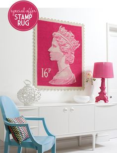 OMG how much do I love this Queen Head Stamp Rug?  LOTS!!