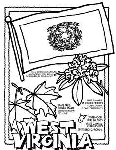 West Virginia coloring page