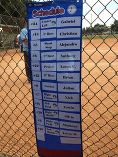 Great visual for t-ball players to see batting order.