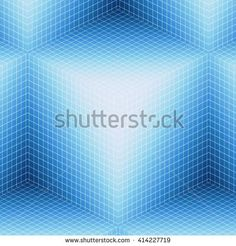 Blue Cube Grid Abstract - buy this illustration on Shutterstock & find other images.