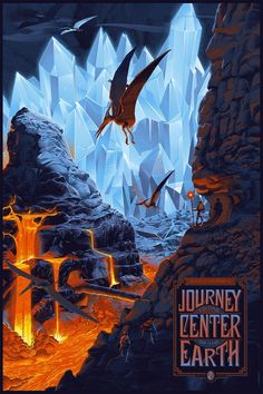 "Laurent Durieux's ""Journey to the Center of the Earth"" Poster"