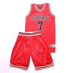 Red Miyagi Ryota Basketball Members Jersey Outfit Anime SLAM DUNK Costume  Sets 71c170189