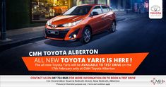 Test drive the ALL NEW Toyota Yaris at Toyota Alberton!  We are at Cnr. Voortrekker & Redruth Street, New Redruth, Alberton.  www.cmhtoyotaalberton.co.za 087 724 8585 Toyota, Driving Test, Bmw, Street, Walkway