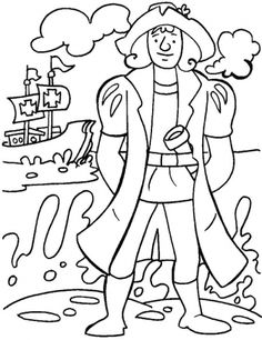 Free Columbus Day Coloring Pages Printable. Coloring is a fun activity for children. It cannot be denied that this activity can stimulate the imagination of chi Minion Coloring Pages, Leaf Coloring Page, Rose Coloring Pages, Mickey Mouse Coloring Pages, Free Coloring Sheets, Animal Coloring Pages, Printable Coloring Pages, Coloring Pages For Kids, Happy Columbus Day