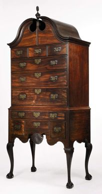 On Friday, January 21, Sotheby's set a new record at auction for a high chest of drawers when a Newport, R.I., case piece sold in the room to dealer G.W. Samaha bidding on behalf of a collector for $3,554,500 ($2/3 million). The piece is documented by a 1756 bill of sale from maker John Townsend.