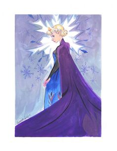 Disney Fine Art Art Snow Queen by Victoria Ying Frozen Fan Art, Frozen Film, Disney Frozen, Elsa Frozen, Jennifer Lee, Olaf, Godard Art, Frozen Snow Queen, Walt Disney Movies