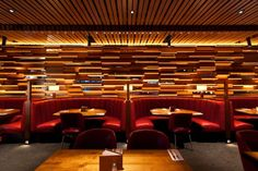 Custom Restaurant Booth and Tables for the Cactus Club Cafe ~ Pacific Design Furniture and Upholstery
