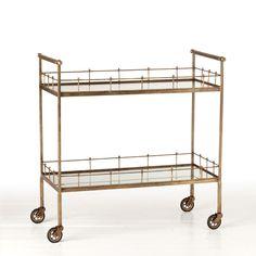 Arteriors Lisbon Vintage Bar Cart