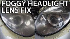 Polishing foggy headlight lens (how to fix mist lamp, restoring, #Mercedes #W211) #cars