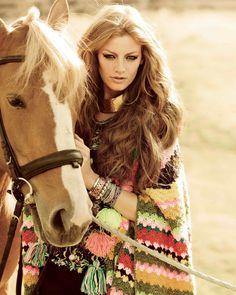 Girl and horse - Boho fab
