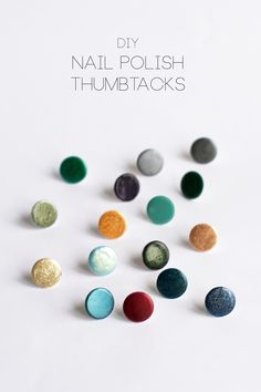 DIY Nail Polish Thumbtacks Tutorial | HungryHeart.se