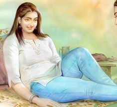 Indian Women Painting, Indian Art Paintings, Sexy Painting, Painting Of Girl, Pictures To Draw, Girl Pictures, Rajasthani Painting, Watercolor Landscape Paintings, Dark Tattoo