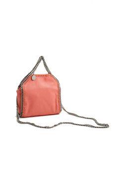 Stella McCartney peony pink tiny falabella crossbody bag Stella McCartney  shop online c45b2335da