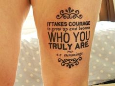 The filigree, different fonts and font sizes make this tattoo different than the standard script tattoos....