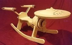 To Infinity And Beyond!: USS Enterprise Children's Rocking Chair --- I would have LOVED to get this for my son when he was little!!