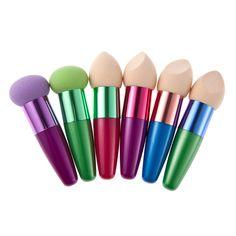 2017 Hot    Women Cosmetic Liquid Cream Foundation Concealer Sponge Lollipop Brush  Mar12