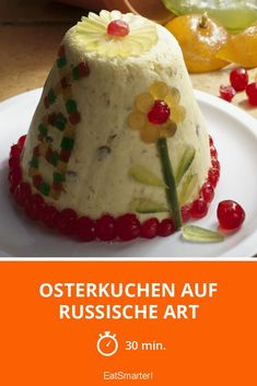 Osterkuchen auf russische Art - smarter - Zeit: 30 Min.   eatsmarter.de Eat Smarter, Pudding, Desserts, Food, Easter Pie, Almonds, Easy Meals, Food Food, Russia