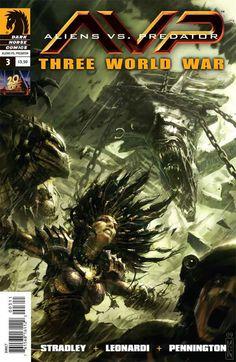 Aliens vs. Predator comic book art