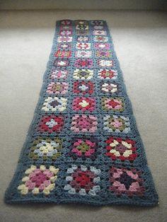 Granny Square Scarf | Blocking of my granny square scarf | Sam Roberts | Flickr