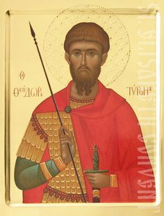 painted icon of st theodore tyro